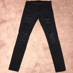 Flying Monkey Distressed Black Skinnies